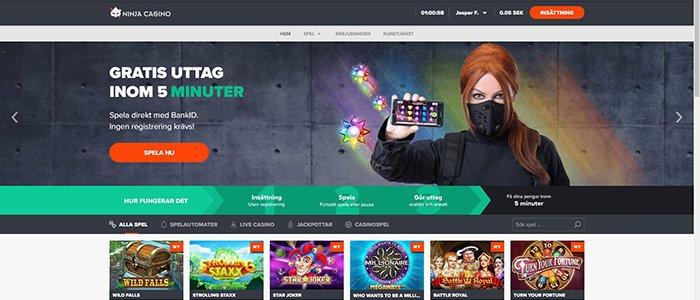 NinjaCasino-Spela direkt utan registrering-svenska