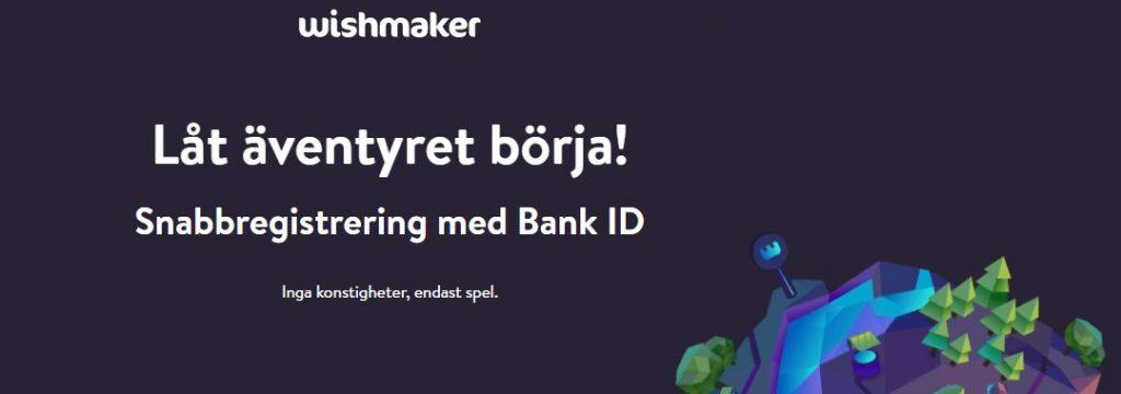 Wishmaker - Snabbregistrering med Bank ID